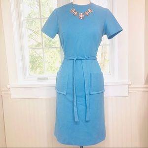 Vintage Blue Knee-Length Dress Size 12